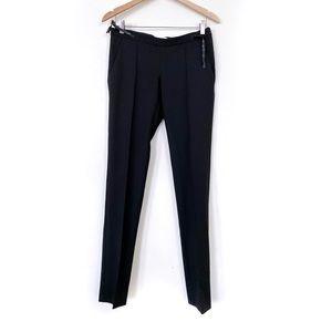 Moschino Jeans Black Pintuck Slim Trouser Pants